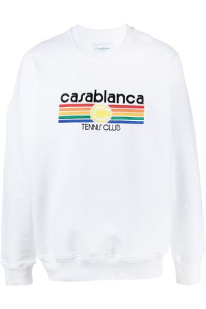 Casablanca Men Sweatshirts - Embroidered-logo sweatshirt
