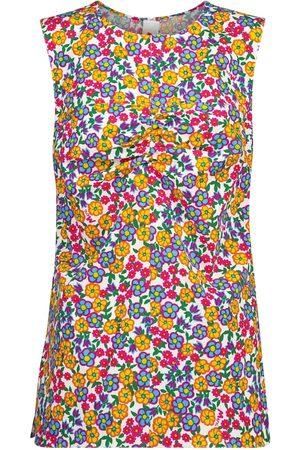 Marni Women Tank Tops - Floral cotton poplin top