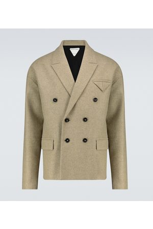 Bottega Veneta Men Blazers - Double-breasted wool blazer