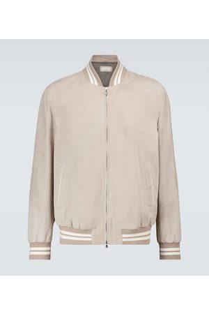Brunello Cucinelli Suede bomber jacket