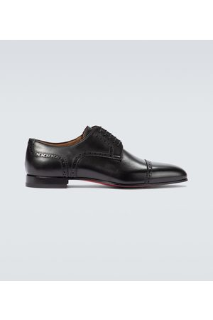 Christian Louboutin Eygeny flat leather derby shoes