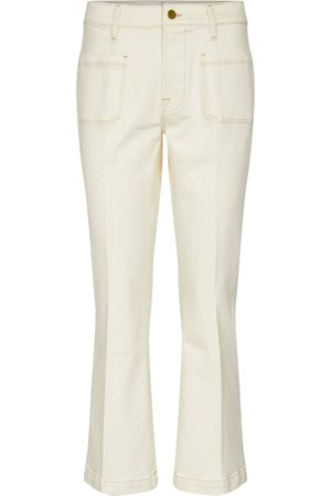 Frame Women High Waisted - Le Bardot cropped flared jeans