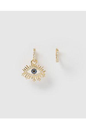 Izoa Women Earrings - Nora Eye Huggie Earrings - Jewellery Nora Eye Huggie Earrings