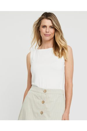 Bamboo Body Shell Top - Tops (Ivory) Shell Top
