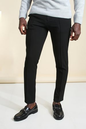 Boohoo Mens Skinny Plain Tapered Smart Trouser With Pintuck