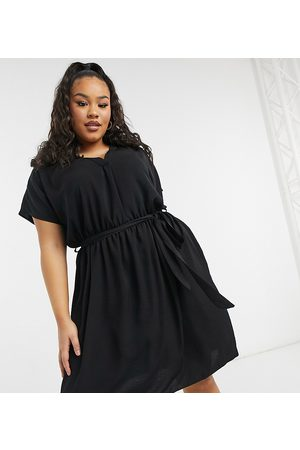 New Look New Look Curve belted dress in black