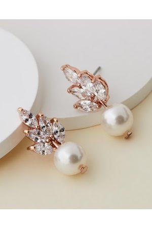 Stephanie Browne Women Earrings - Bocheron Pearl Earrings - Jewellery (Rose ) Bocheron Pearl Earrings