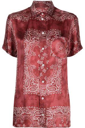 Golden Goose Women Shirts - Bandana print fluid shirt