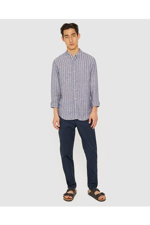 JAG The Stripe Linen Shirt - Casual shirts (Navy & ) The Stripe Linen Shirt