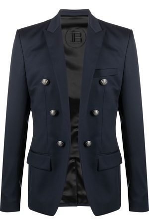 Balmain Men Blazers - Button-detailed wool blazer