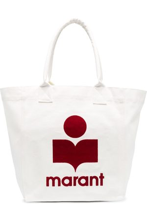 Isabel Marant Flocked-logo cotton tote bag