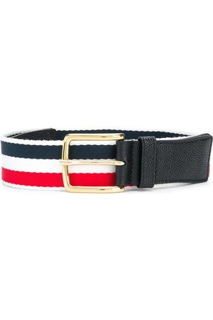 Thom Browne Men Belts - Pebbled leather belt