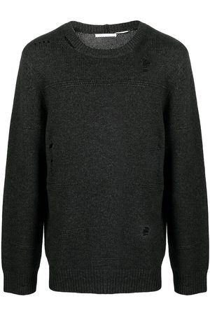 Helmut Lang Men Sweaters - Ripped-detailed knitted jumper
