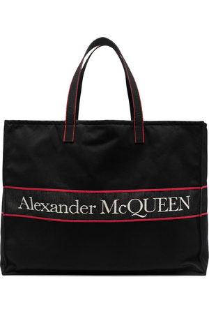 Alexander McQueen East West logo tote bag
