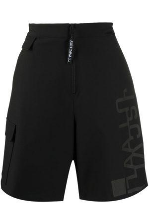Roberto Cavalli Logo-print high rise shorts