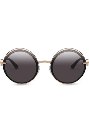 Bvlgari On-Me round metal sunglasses