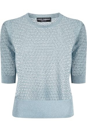 Dolce & Gabbana Open knit short sleeve jumper