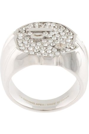 A BATHING APE® Men Rings - Rhinestone-embellished ring