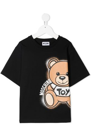 Moschino Boys Short Sleeve - TEEN bear logo print T-shirt