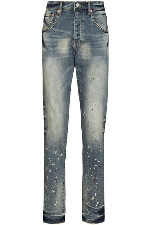 Purple Brand Vintage Spotted tapered jeans