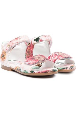 Dolce & Gabbana Floral-print touch-strap sandals