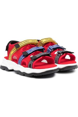 Dolce & Gabbana Logo-tape mesh sandals
