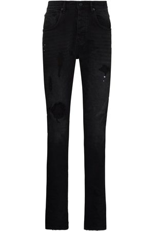 Purple Brand Men Tapered - Ripped detail jeans