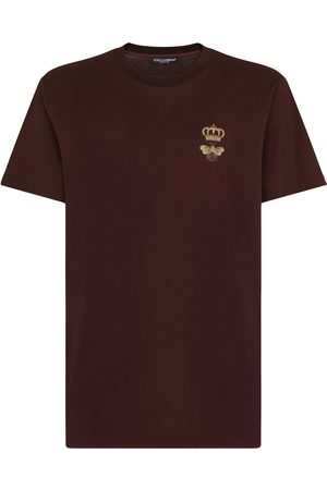 Dolce & Gabbana Crown-patch crew-neck T-shirt