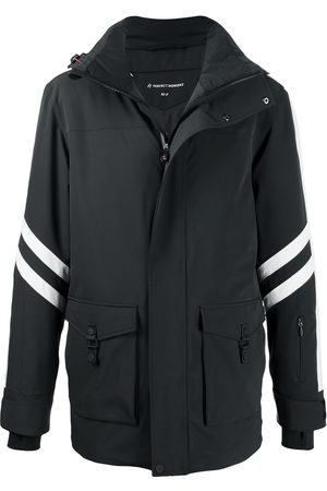 Perfect Moment Men Outdoor Jackets - Side stripe detail hooded jacket