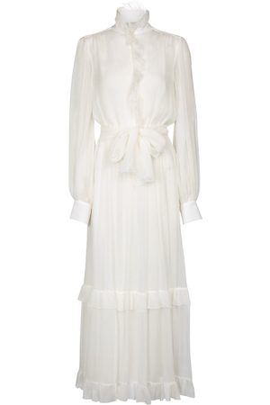 Etro Ruffled silk crépon maxi dress