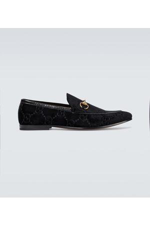 Gucci Men Loafers - Jordaan GG velvet loafers