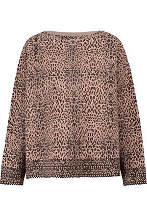 Alaïa Leopard-jacquard sweater