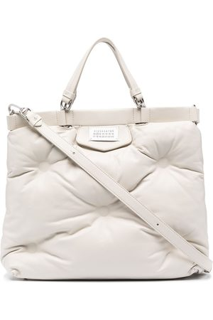 Maison Margiela Glam Slam number patch tote bag