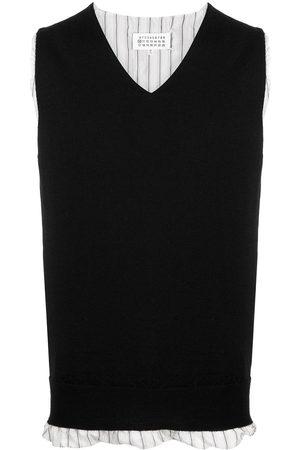 Maison Margiela Men Gilets - V-neck knitted vest