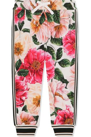 Dolce & Gabbana Floral-print track pants