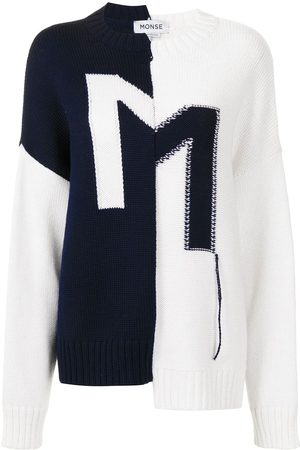MONSE Crooked M reconstructed sweater