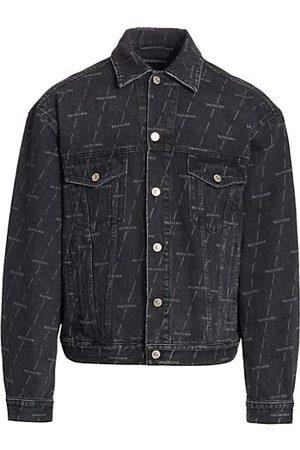 Balenciaga Large Fit Logo Denim Jacket