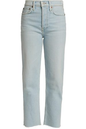 RE/DONE Women Straight - 70s Stove Pipe Cropped Jeans