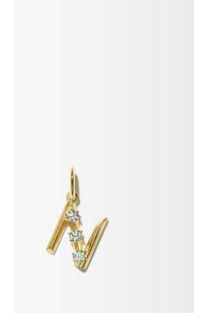 Jade Trau Women Necklaces - Diamond & 18kt Initial Charm (n-z) - Womens