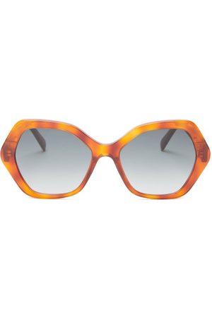 Céline Women Sunglasses - Hexagonal Tortoiseshell-acetate Sunglasses - Womens - Tortoiseshell