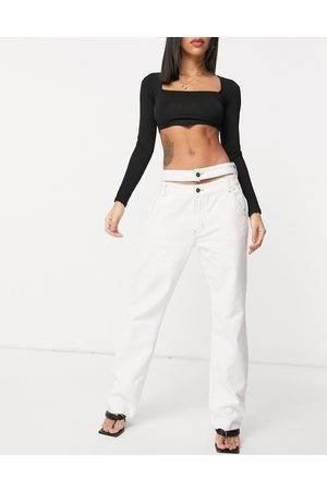 Lioness Straight leg jeans in white