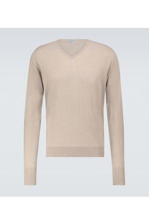 JOHN SMEDLEY Bobby merino-blend V-neck sweater