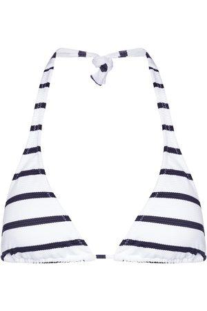 Melissa Odabash Athens striped halterneck bikini top