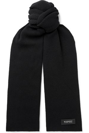 Givenchy Logo-Detailed Ribbed Wool and Cashmere-Blend Scarf