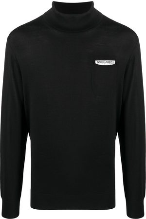 Dsquared2 Logo patch roll neck jumper