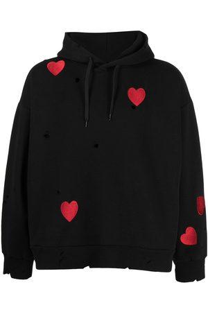 Natasha Zinko Women Hoodies - Heart-print hoodie