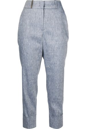 PESERICO SIGN High-rise cropped trousers