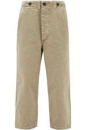 Raey Wide-leg Cotton-twill Chino Trousers - Womens - Khaki