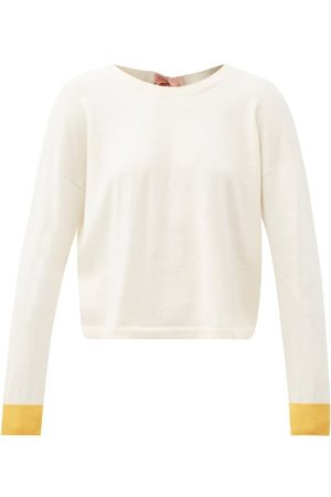 Marni Tie-back Cotton-blend Sweater - Womens - Ivory