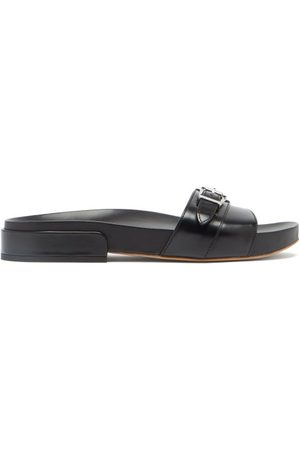 GABRIELA HEARST Women Thongs - Elie Buckled-strap Polished-leather Slides - Womens